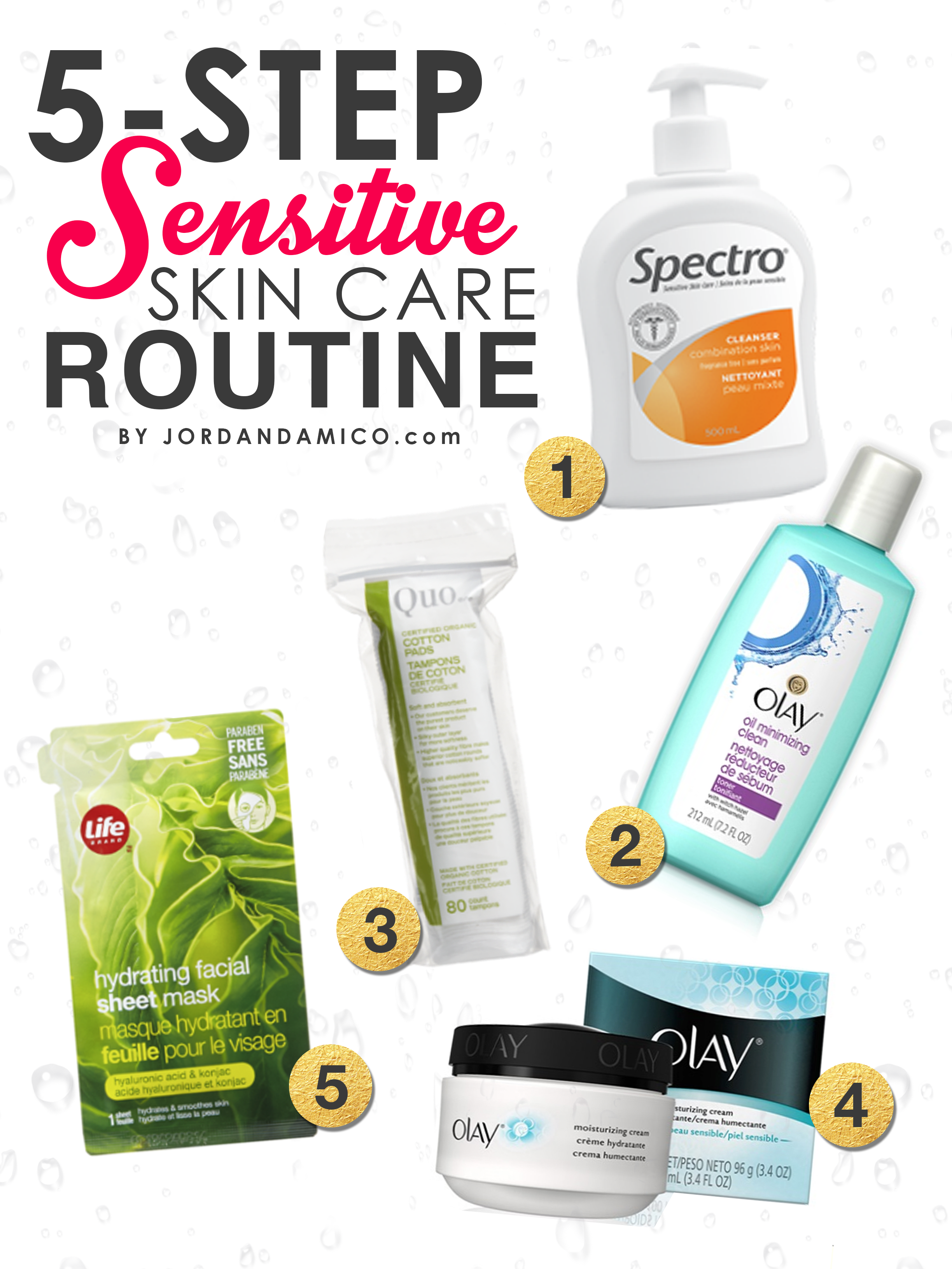5 Step Sensitive Skin Care Routine