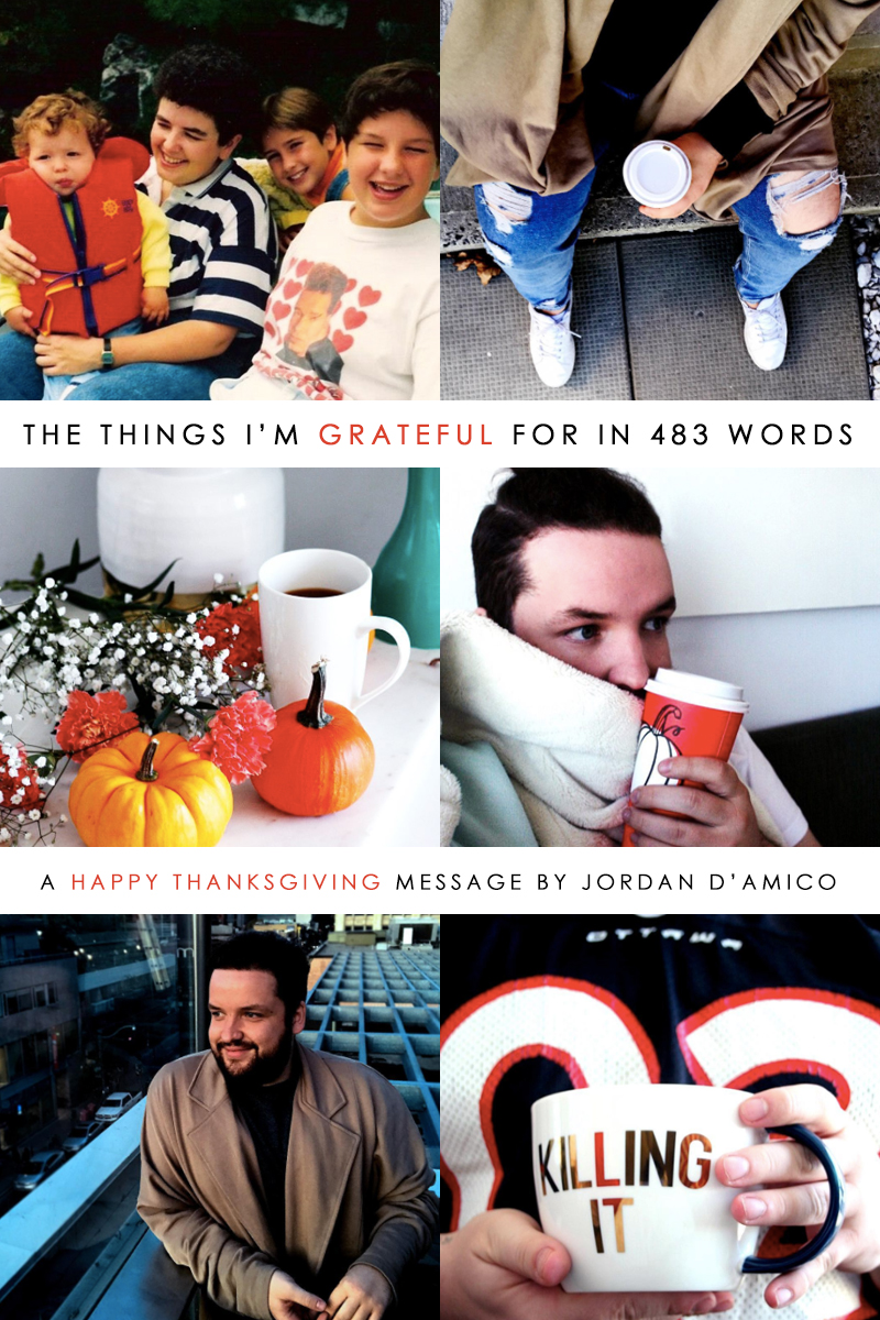 The things I'm grateful for in 483 words | Happy Thanksgiving