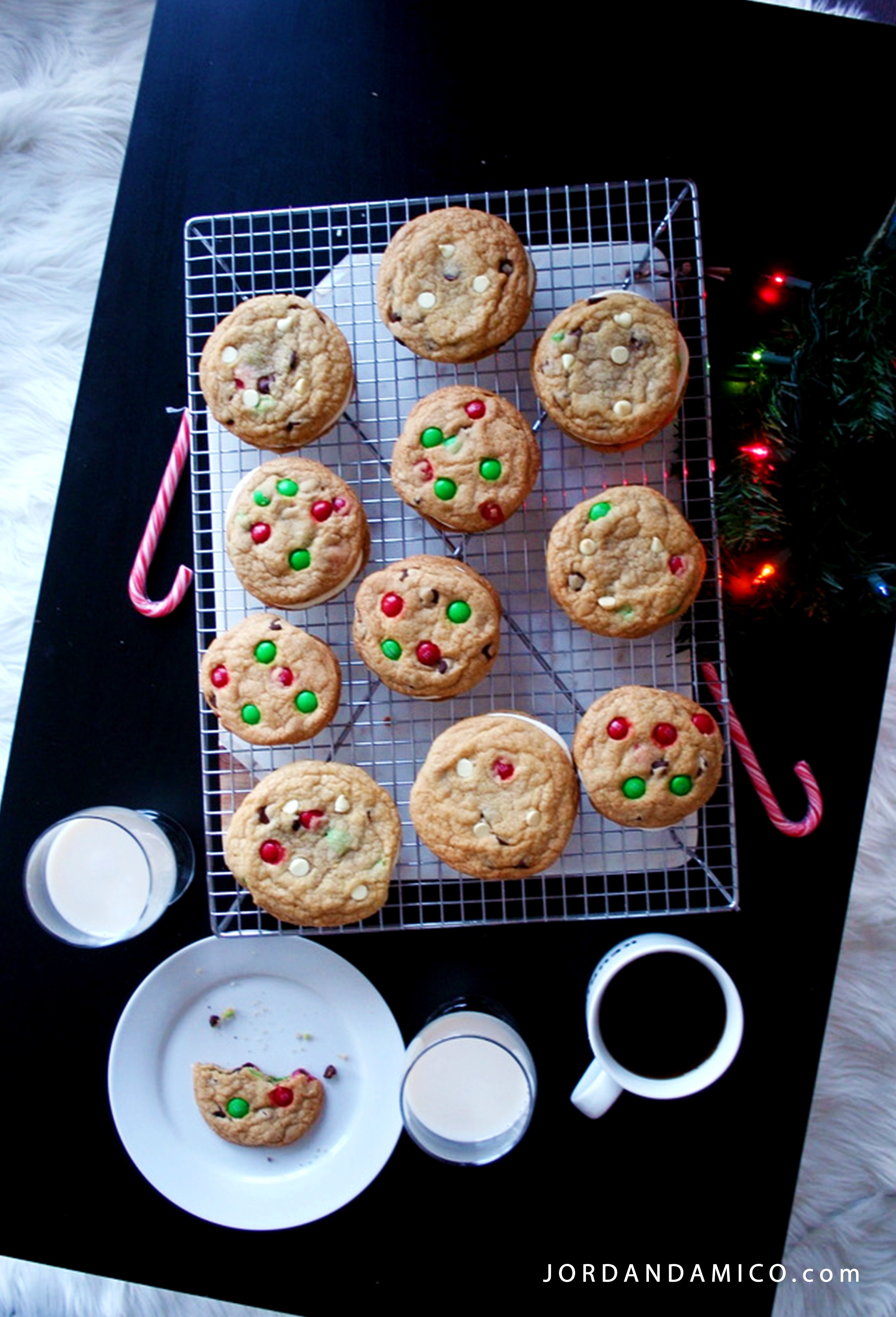 Decadent christmas cookie sandwiches with holiday mms jordan damico honestly save yourself the hassle and bake something quick and easy thats going to be a hit with each person at your christmas party solutioingenieria Image collections