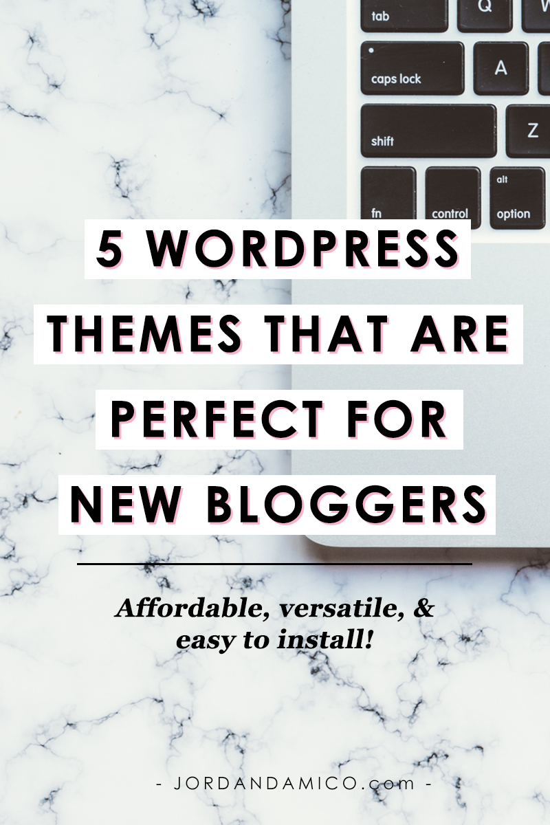 5 WordPress themes that are perfect for new bloggers