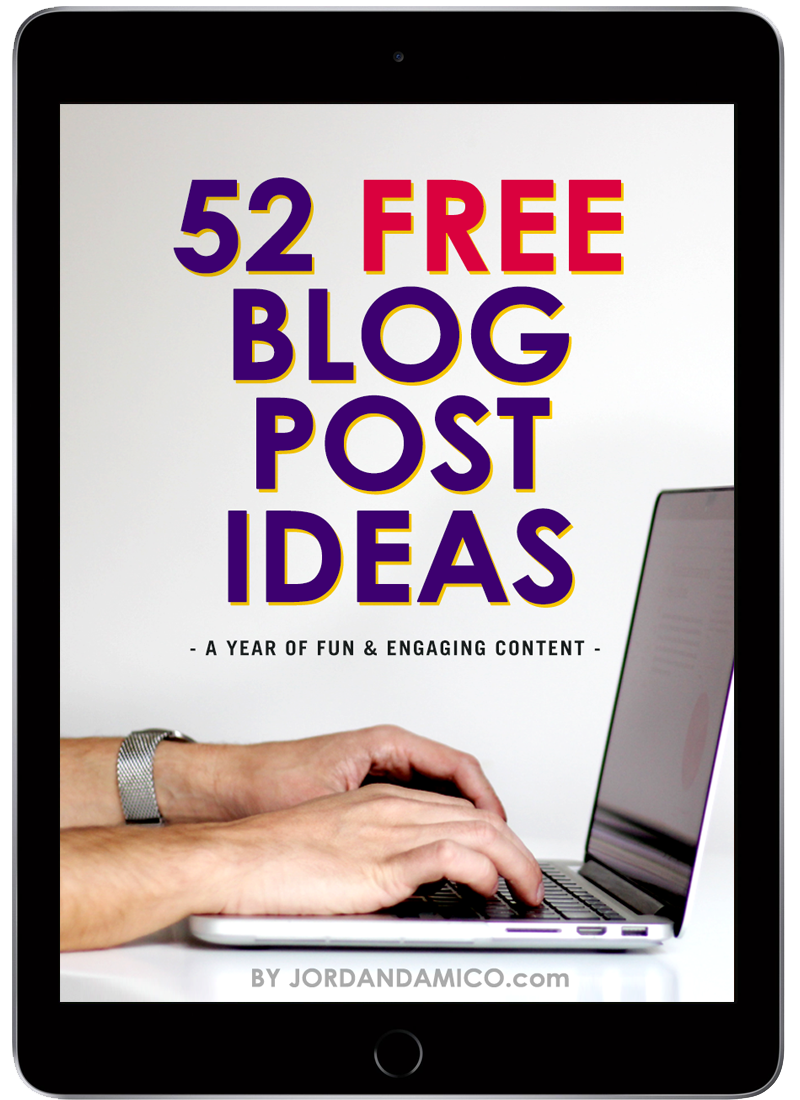 A year of content: 52 free blog post ideas