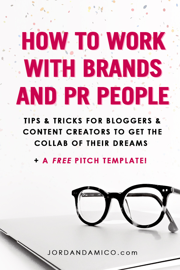 So you're a blogger who wants to work with brands? There are a few things you have to know first and a few things you must do when you reach out to them for a potential collaboration. Repin to get my tips and tricks as a PR professional and a FREE pitch template!
